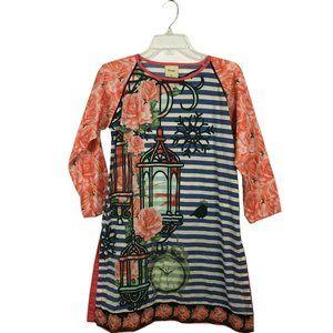 Numayaan Women's Long Sleeve boho tunic Size XS/8